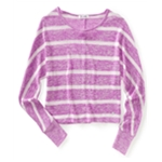 Aeropostale Womens Cropped Stripe Pullover Knit Sweater
