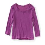 Aeropostale Womens Solid Ls Knit Sweater