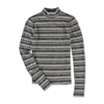 Aeropostale Womens Heathered Stripe Pullover Sweater