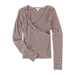 Aeropostale Womens Ribbed Crossover Pullover Blouse