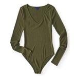 Aeropostale Womens Ribbed Bodysuit