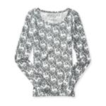 Aeropostale Womens Reindeer LS Graphic T-Shirt