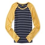 Aeropostale Womens Striped LS Graphic T-Shirt