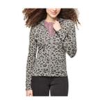 Aeropostale Womens Leopard Hoodie Sweatshirt