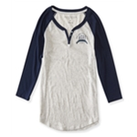 Aeropostale Womens NYC Athletics Henley Shirt