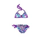 Becca Womens Reversible Side Tie 2 Piece Bikini