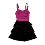 Aeropostale Womens Belted Velvet Halter Tiered Dress