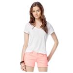 Aeropostale Womens Burnout Lace Embellished T-Shirt