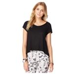 Aeropostale Womens Sheer Tux Hem Basic T-Shirt