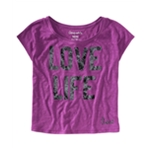 Aeropostale Womens Foil Love Life Graphic T-Shirt