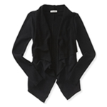 Aeropostale Womens French Terry Drape Cardigan Sweater