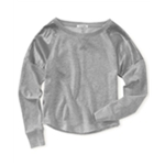 Aeropostale Womens Sequin Shoulder Panels Cropped Knit Sweater
