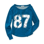 Aeropostale Womens 87 Sparkle Fleece Sweatshirt