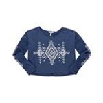 Aeropostale Womens Geo Cropped Sweatshirt