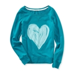 Aeropostale Womens Painted Heart Graphic T-Shirt