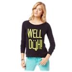 Aeropostale Womens Well Duh Cropped Sweatshirt