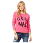 Aeropostale Womens Painted Cropped Sweatshirt