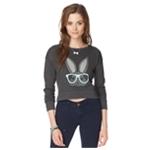Aeropostale Womens Bunny Crop Sweatshirt