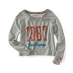Aeropostale Womens Lightweight Crewneck Sweatshirt