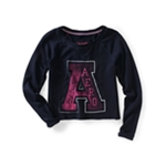 Aeropostale Womens Athletic Cropped Knit Sweater