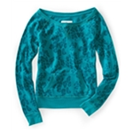 Aeropostale Womens Leopard Print Fleece Knit Sweater