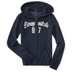 Aeropostale Womens '87 Logo Hoodie Sweatshirt