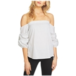 1.STATE Womens Stretch Knit Blouse