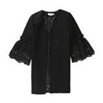 Tahari Womens Lace Sleeve Jacket