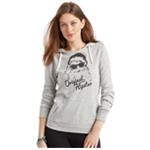 Aeropostale Womens Hipster Santa Hoodie Sweatshirt