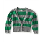 Aeropostale Womens Cropped Stripe Cardigan Sweater