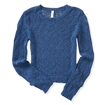 Aeropostale Womens Sheer Cropped Pullover Sweater