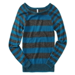 Aeropostale Womens Skinny Stripe Crew Knit Sweater