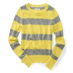 Aeropostale Womens Metallic Stripe Knit Sweater