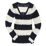 Aeropostale Womens Colorblock Knit Sweater