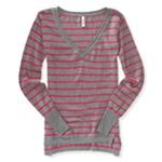 Aeropostale Womens Stripe Knit Sweater