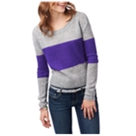 Aeropostale Womens Colorblock Boxy Crew Knit Sweater