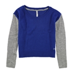 Aeropostale Womens Colorblocked Sleeve Crew Knit Sweater