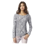 Aeropostale Womens Marled Cable Pullover Sweater