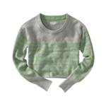 Aeropostale Womens Long Sleeve Opposite Stripe Knit Sweater