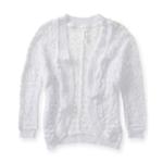 Aeropostale Womens Crochet Cropped Shrug Sweater