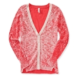 Aeropostale Womens Heathered Cardigan Sweater
