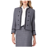 Tahari Womens Metallic Tweed Jacket