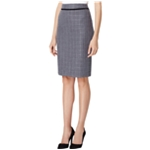 Tahari Womens Belted Boucle Midi Skirt