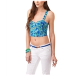 Aeropostale Womens Cropped Paisley Corset Tank Top