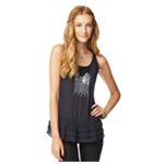 Aeropostale Womens Semi Sheer Sequin Front Tank Top