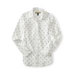 Aeropostale Womens Dot Print Button Up Shirt