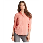 Aeropostale Womens Casual LS Button Up Shirt