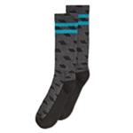 Perry Ellis Mens Geometric W/Stripe Midweight Socks