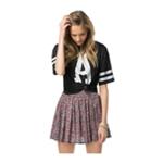 Aeropostale Womens Floral Skater Pleated Skirt