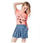 Aeropostale Womens Flowergarden Pleated Skirt